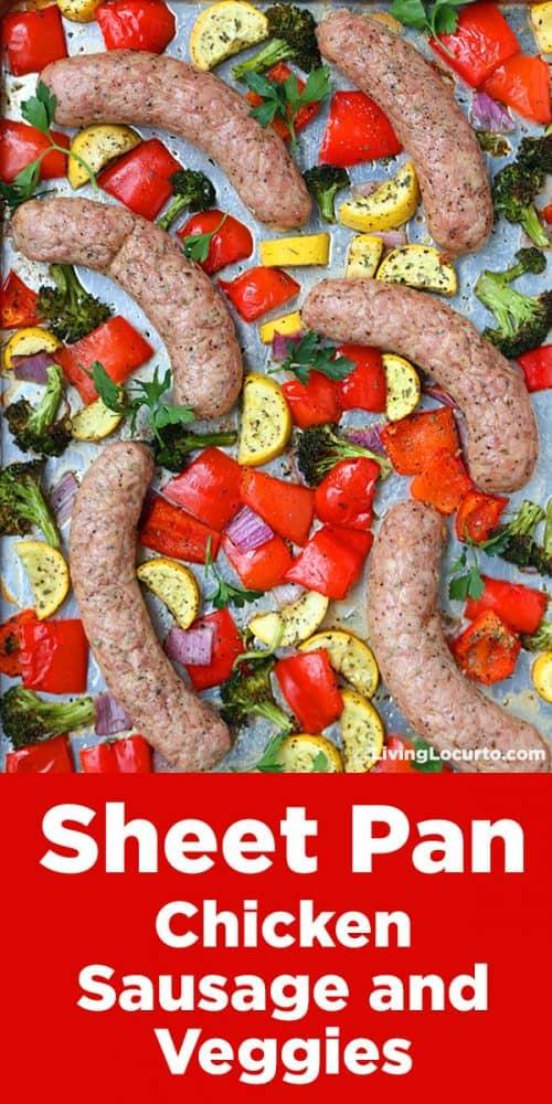 Sheet Pan Sausage Chicken Dinner