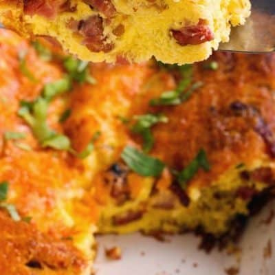 Swiss and Ham Overnight Breakfast Strata