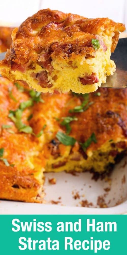 Swiss and Ham Strata easy overnight breakfast recipe