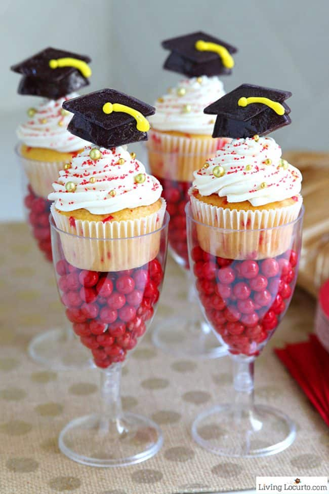 funfetti graduation cupcakes easy graduation party ideas