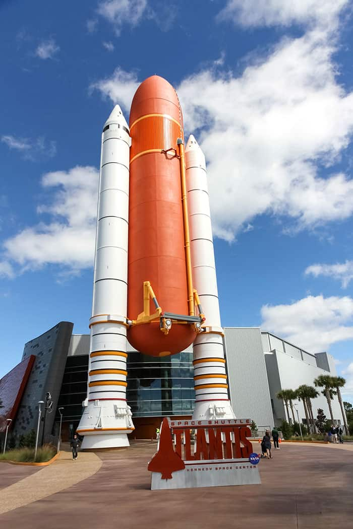 Kennedy Space Center in Cape Canaveral Florida - 5 of the best day trips from Disney World. Learn about fun Orlando day trips perfect for your family vacation. #orlando #travel #disney