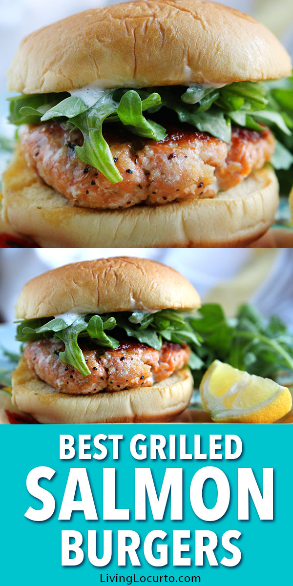 This is the best grilled salmon burger recipe! Fire up the grill for these fresh salmon patties. Crispy and crunchy on the outside, tender and juicy on the inside. These salmon burgers are a quick and easy healthy dinner idea!