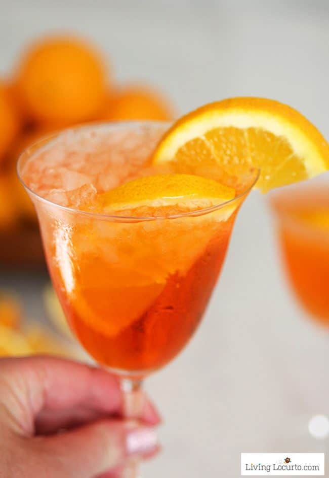 Aperol Spritz recipe. A refreshing sparkling Italian orange soda cocktail.