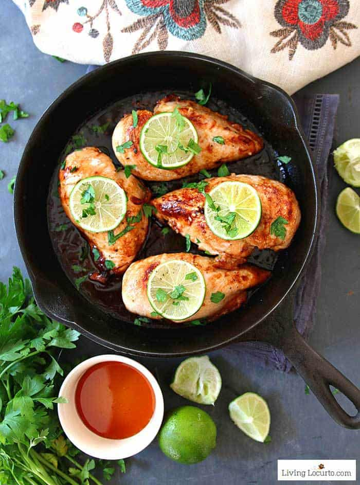 Honey Lime Baked Chicken Breasts! Easy low carb baked chicken recipe for a delicious family dinner made in less than 30 minutes.