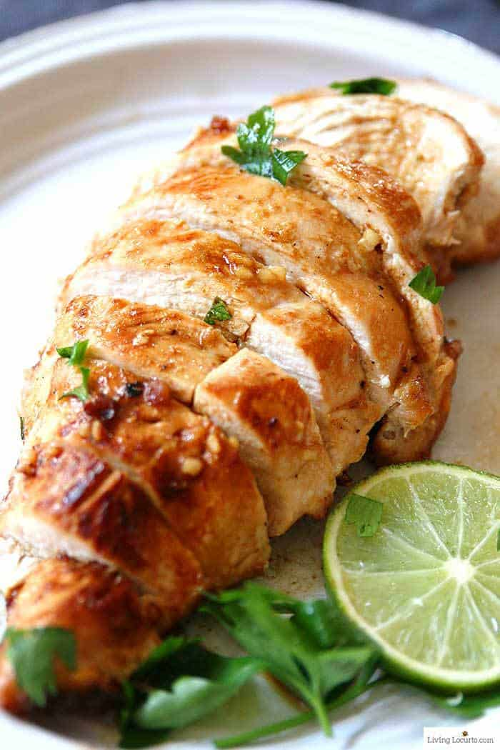 Honey Lime Baked Chicken Breasts Recipe in less than 30 minutes. Perfect low carb dinner!