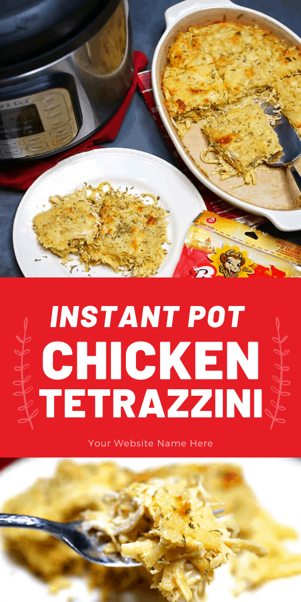 Instant Pot Chicken Tetrazzini