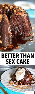 Better Than Sex Cake Chocolate Caramel Toffee Dessert Recipe