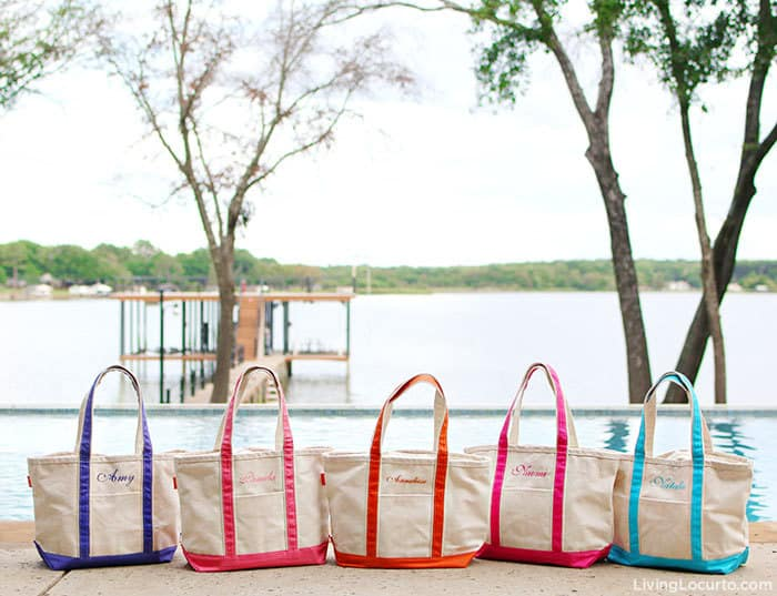 A recap of the Living Locurto Retreat in Texas. A behind the scenes look at the DIY Lifestyle, Food and Party blog. Meet the team of creative bloggers. Personalized Tote Bags