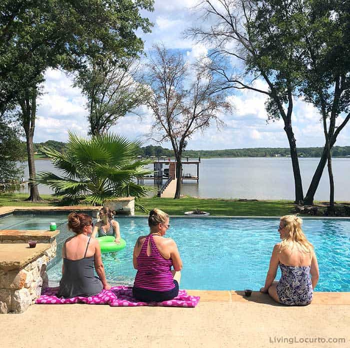 A recap of the Living Locurto Retreat in Texas. A behind the scenes look at the DIY Lifestyle, Food and Party blog. Pool Lake House