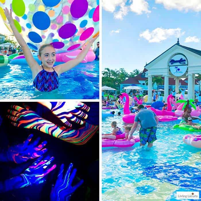 Social Media on the Sand Pool Party. Learn all about Beaches Resorts in Turks & Caicos to plan your next family trip! All-Inclusive Caribbean vacation travel review by Amy Locurto Food and Travel Blogger.
