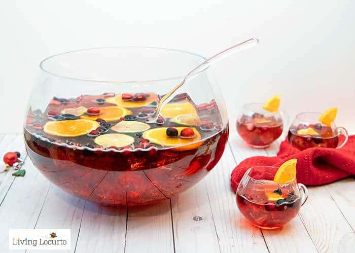 Easy Holiday Punch Recipe! Delicious Christmas drink for a party.