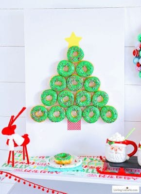 Christmas Tree Donut Wall