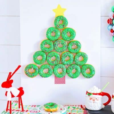 Christmas Tree Donut Wall