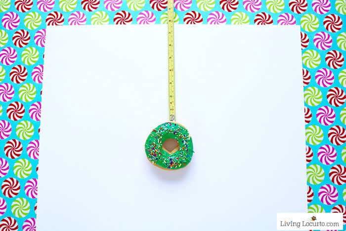 How to make a Christmas Tree Donut Wall - Step 2. Easy Christmas Party Food Craft by Living Locurto