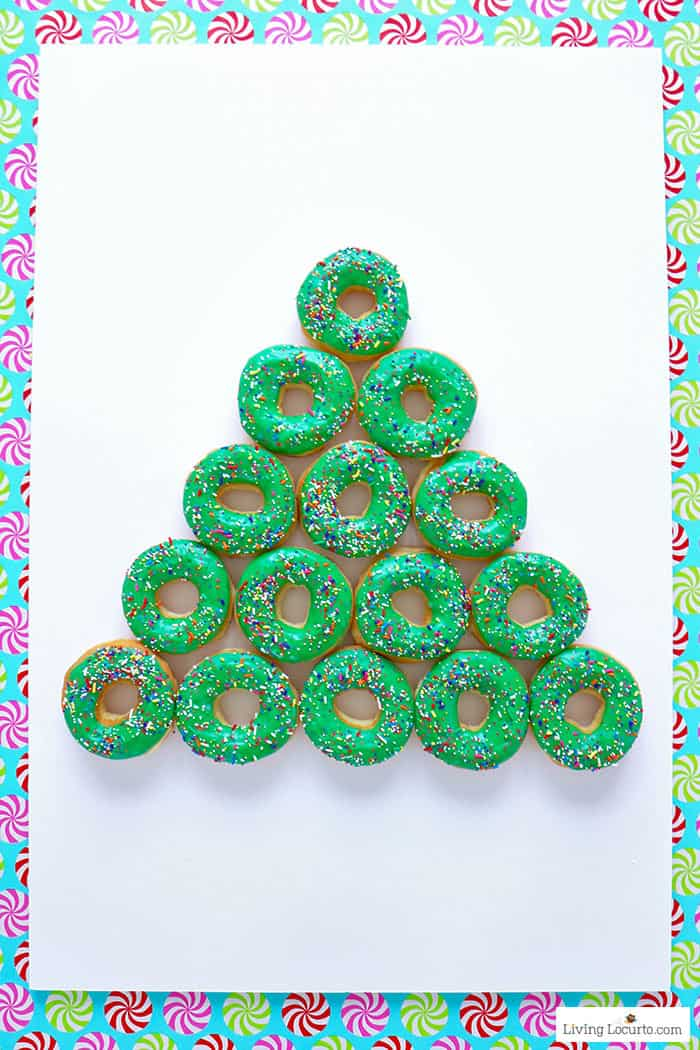 How to make a Christmas Tree Donut Wall - Step 3. Easy Christmas Party Food Craft by Living Locurto