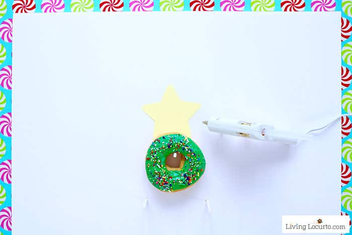 How to make a Christmas Tree Donut Wall - Step 6. Easy Christmas Party Food Craft by Living Locurto