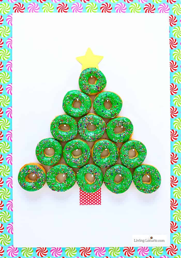 How to make a Christmas Tree Donut Wall - Step 8. Easy Christmas Party Food Craft by Living Locurto
