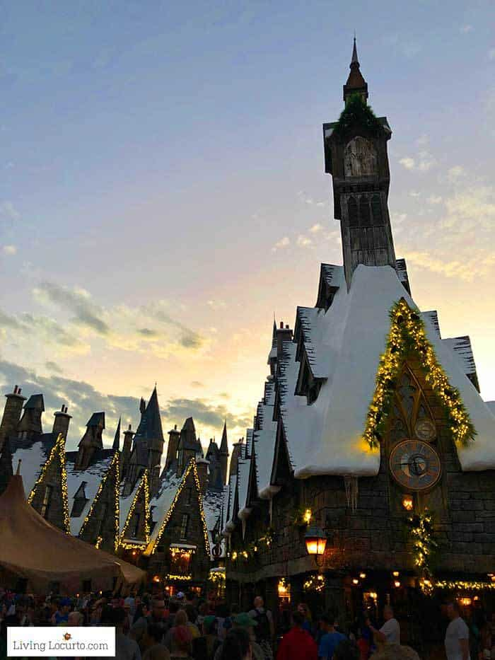 Hogsmeade holiday lights | Christmas at Universal Orlando. Learn what's new this holiday season and get travel tips to make your Christmas vacation special.