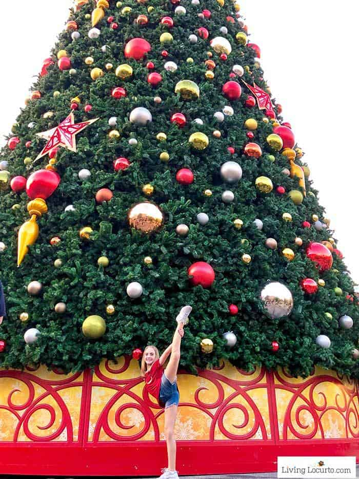 Universal Orlando Christmas Tree | Living Locurto Cheerleader