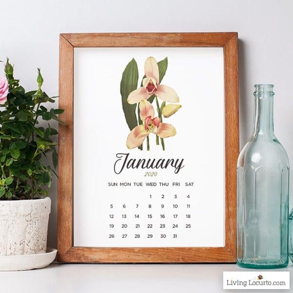 2020 January Calendar - Free Printable Living Locurto