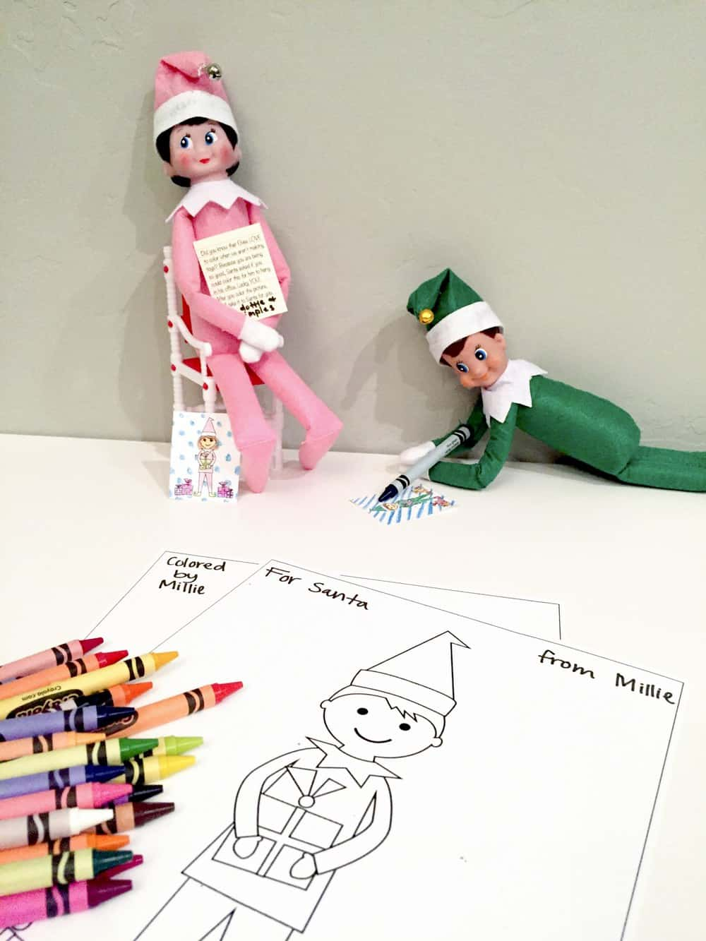 Elf printable coloring sheets featured elves from sumdgey