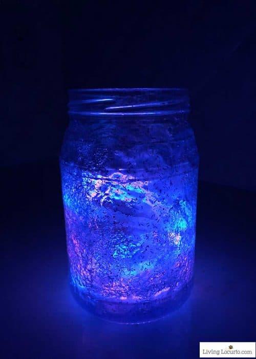 Glow in the Dark Galaxy Jar Craft - 50 Mason Jar crafts and recipes