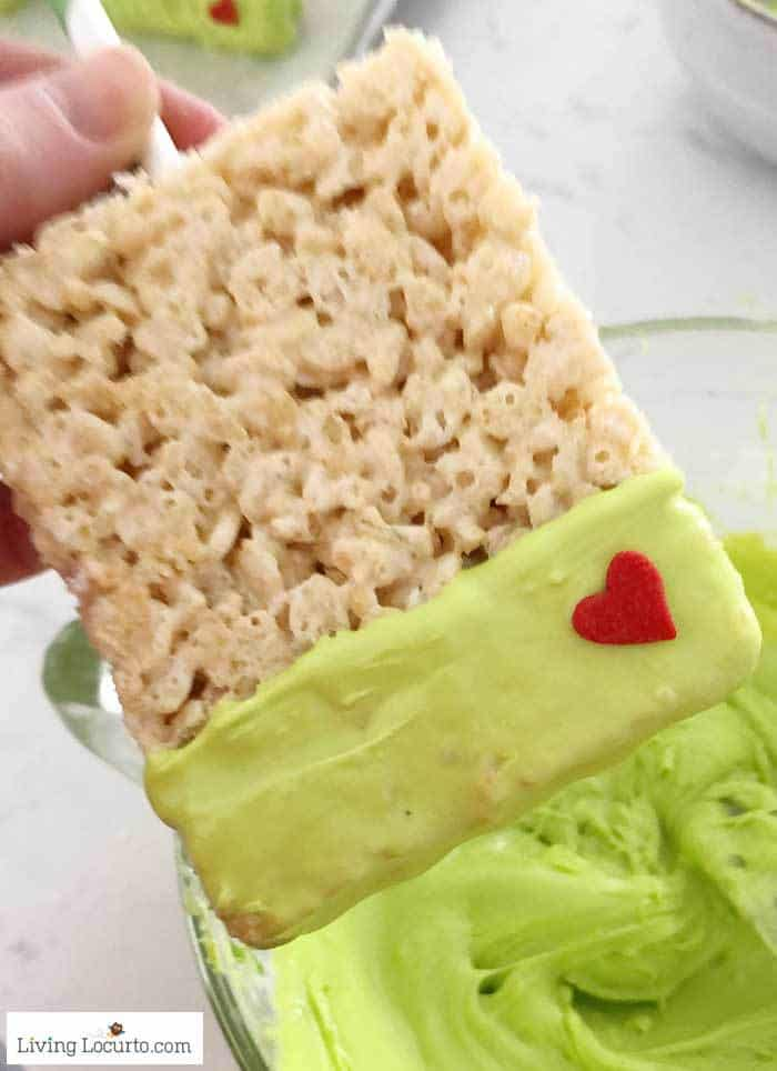 Grinch Rice Krispies Treats - Easy Christmas Party Recipe
