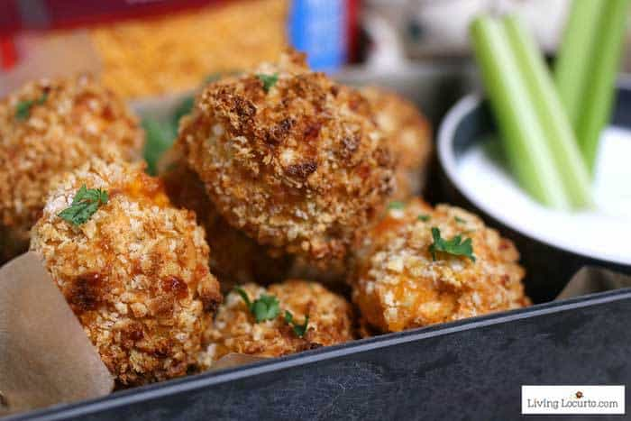 Air Fryer Buffalo Chicken Cheese Balls are a simple recipe made with Buffalo chicken, cheddar cheese and blue cheese dipping sauce.
