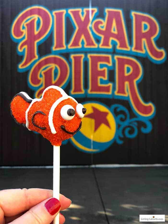 Nemo Cake Pop from Disneyland Pixar Pier in California Adventure. Minnie Mouse Cookie Pops recipe.
