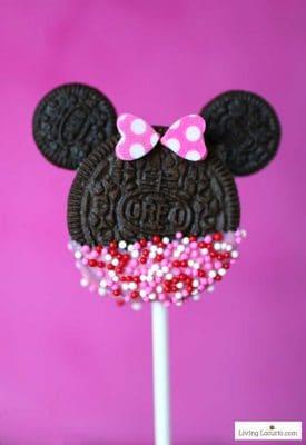 Minnie Mouse Cookie Pops - Valentine's Day Dessert Recipe Living Locurto