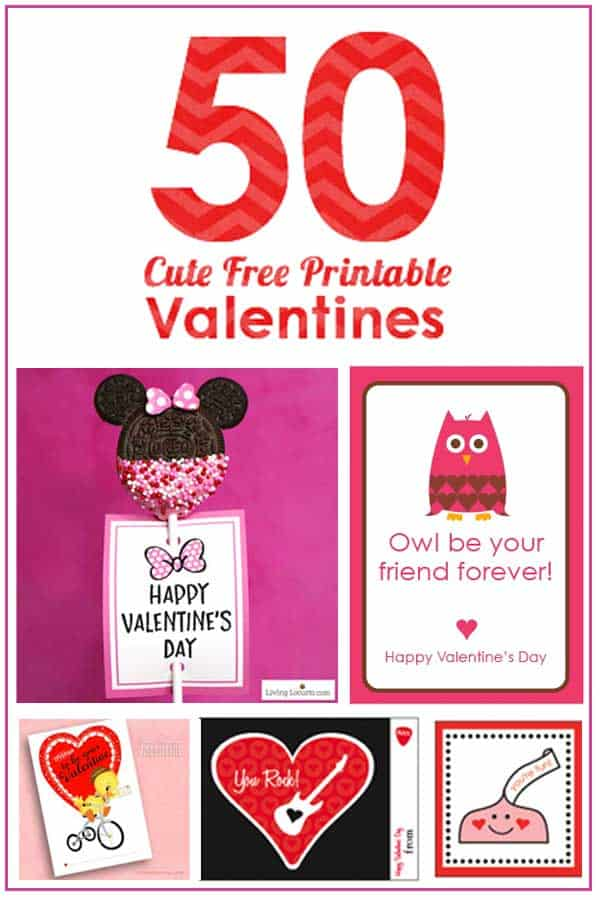 50 Free Printable Valentines - The CUTEST Valentines Day Free Printables for Kids of all ages.