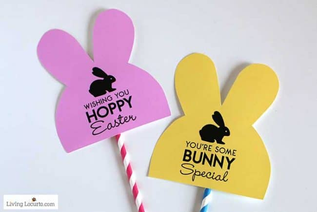 Easy Easter Basket Ideas for Teens - Free bunny printable tags from LivingLocurto.com