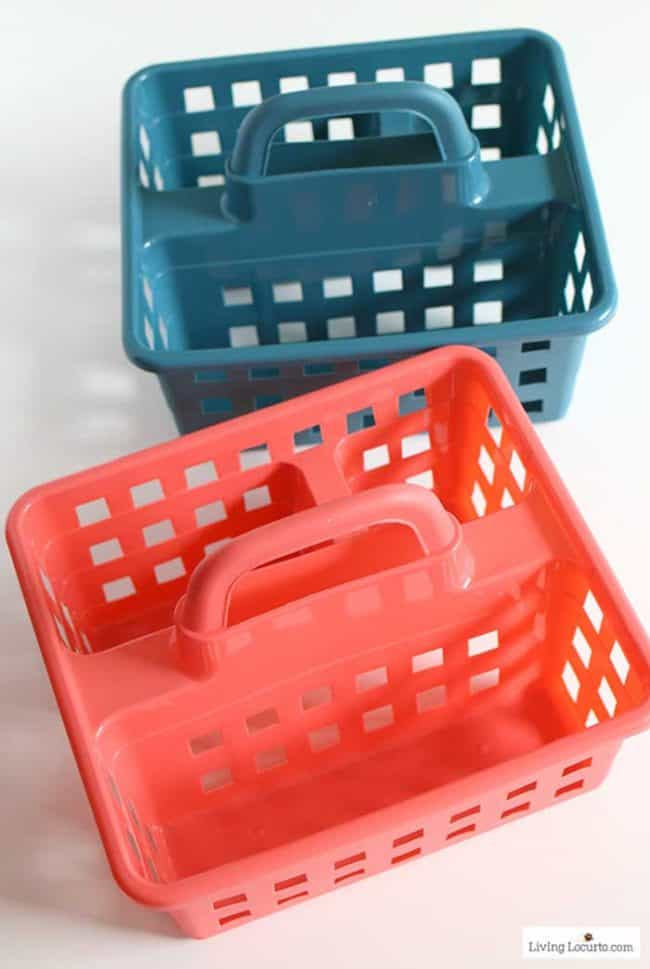 Easy Easter Basket Ideas for Teens - cute caddy from Family Dollar.