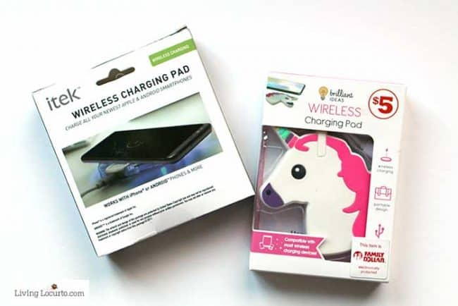 Easy Easter Basket Ideas for Teens - wireless chargers from Family Dollar.