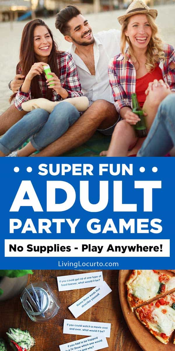 Fun Adult Games to play at your next party or anywhere at anytime! Enjoy these hysterical adult party games that cost nothing to play and unique ideas for a spur of the moment game night.