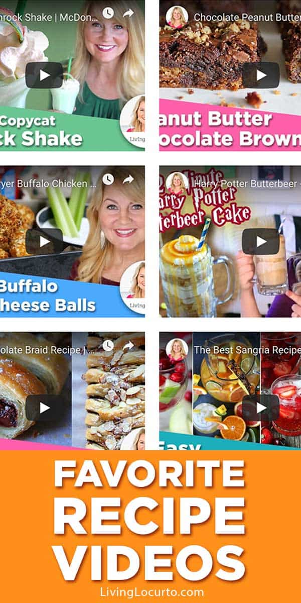 Favorite fun and easy recipe videos! Amazing desserts, appetizers and dinner recipes from the Living Locurto Youtube Channel.
