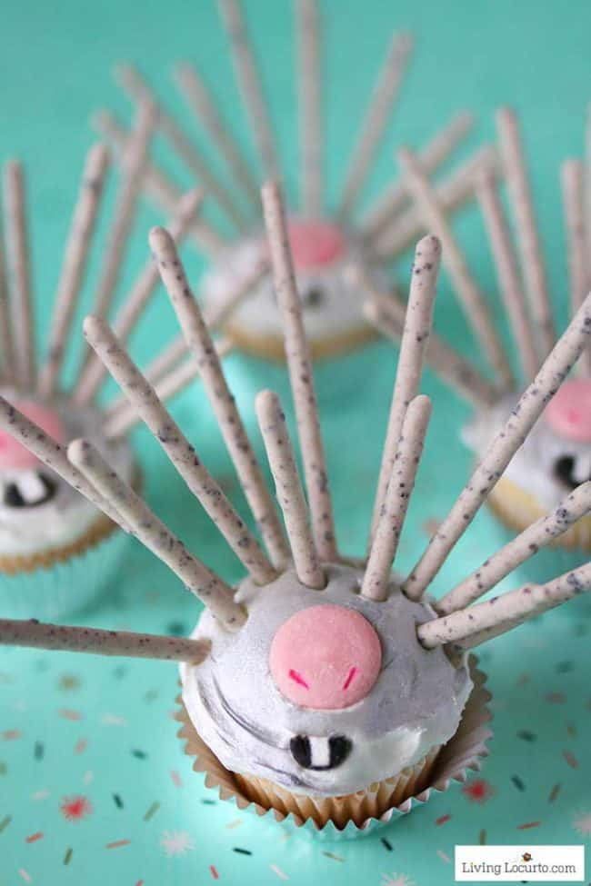 Easy recipe for Wonder Park Porcupine Cupcakes. Learn how to turn a lovable movie character into a sweet dessert. Fun party food idea!