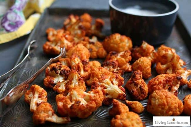 Crispy Buffalo Roasted Cauliflower Recipe