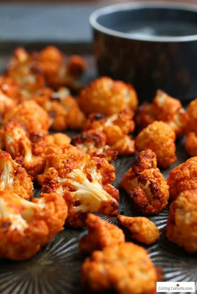 Low-carb Buffalo Roasted Cauliflower air fryer or oven recipe