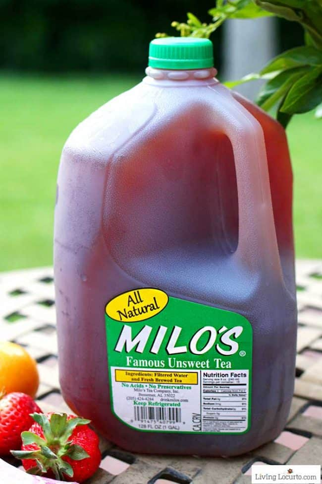A Strawberry Tea recipe made with Milos Famous Tea.