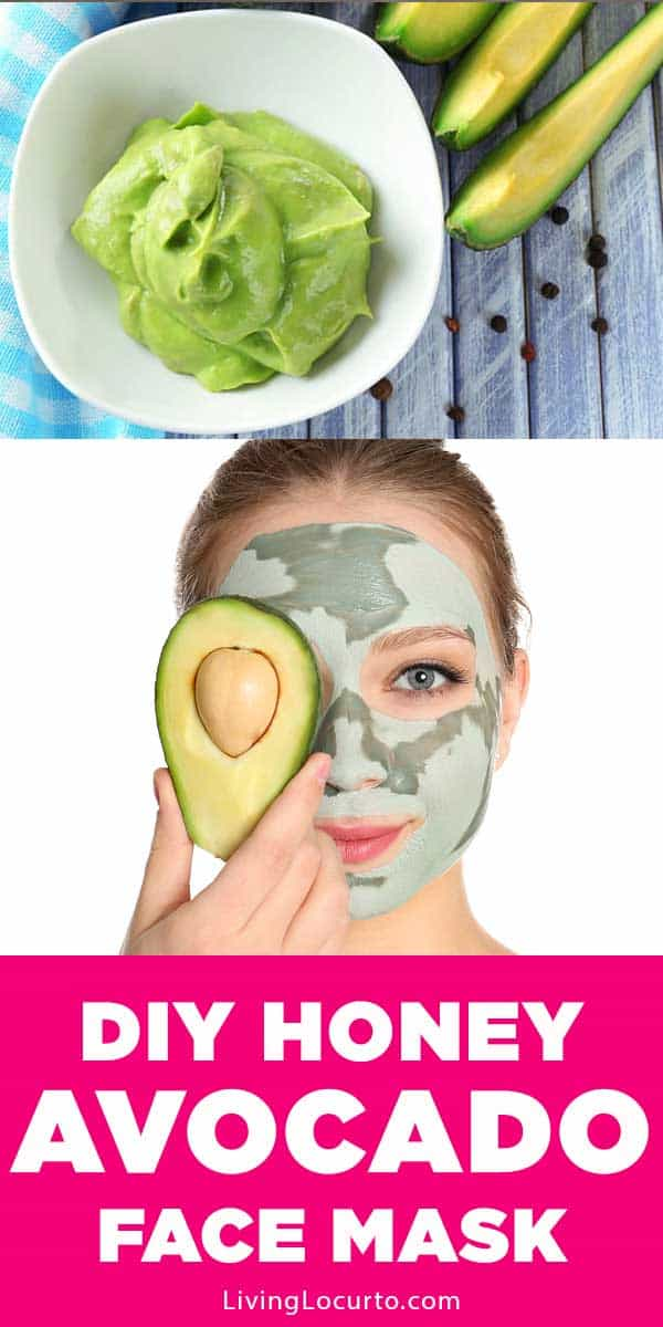 Easy DIY Honey Avocado Face Mask recipe. It leaves your face feeling soft and hydrated while diminishing pore size.