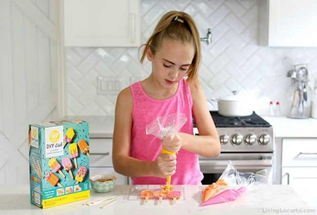 Easy Rainbow Greek Yogurt Recipe with Wilton DIY-Lish Lollipop Candy-Making Kit
