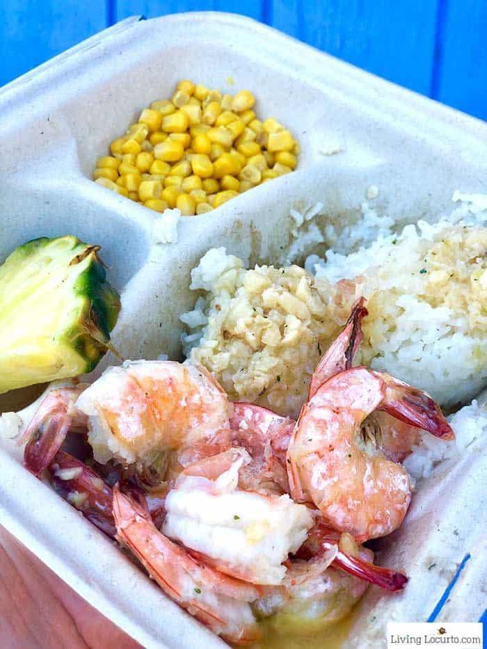 Fumis Shrimp Garlic Shrimp Plate - 2 Day Oahu Itinerary - Honolulu Hawaii Travel Tips - Living Locurto