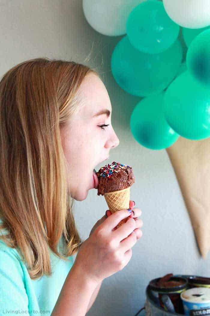 Ice Cream Social Party Ideas. Learn how to make an ice cream cone balloon backdrop.