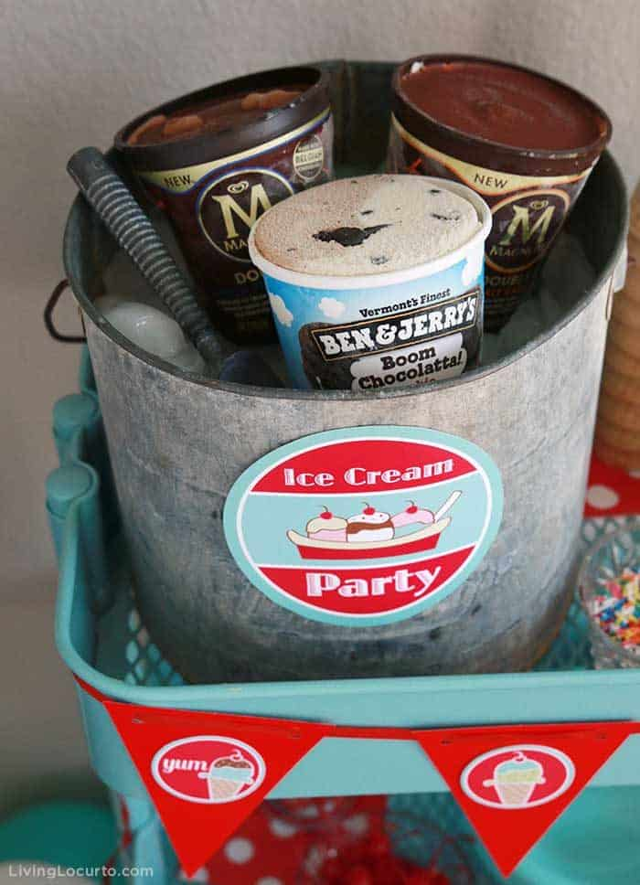 Ice Cream Social Party Ideas and Printable Invitation
