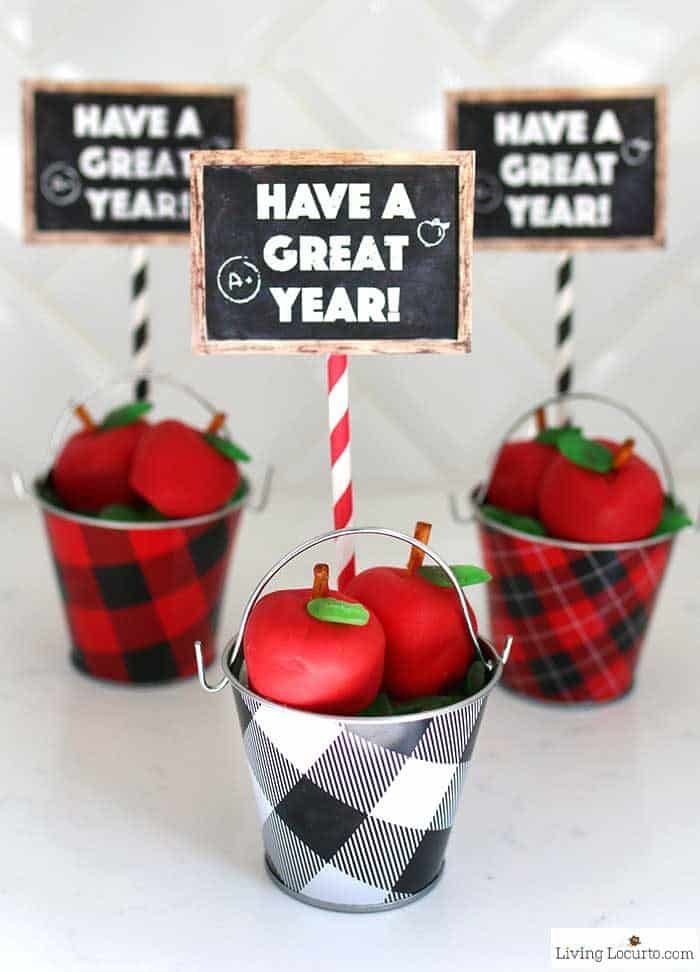 Apple OREO Balls Recipe and Free Printable Back to School Teacher Gift Tags