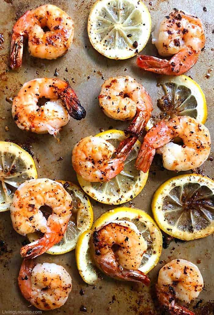 Sheet Pan Baked Shrimp Easy Dinner Recipe. LivingLocurto.com