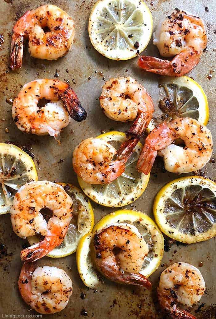 Sheet pan shrimp dinner