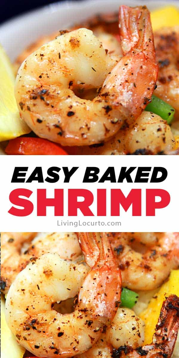 Delicious baked shrimp with lemon, garlic and butter is a a quick and easy oven-roasted shrimp recipe for dinner or a party.