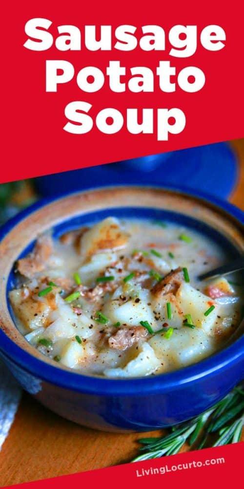 easy sausage potato soup recipe is a lighter version of traditional potato soup